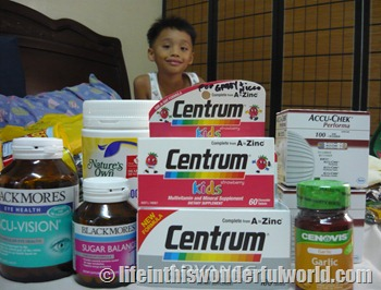 vitamins and medicines